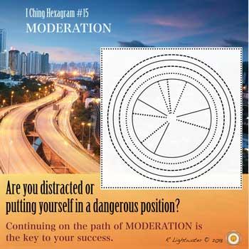 I Ching Hexagram #15 Finding Moderation